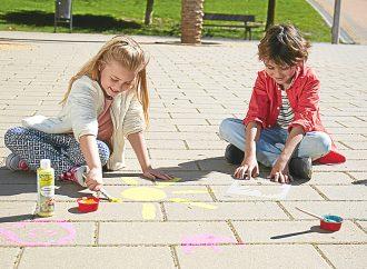 Outdoor-Malspaß für Straßenkünstler